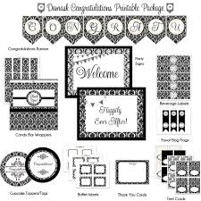 congratulations bridal shower black white congratulations printable party package wedding