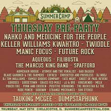thursday pre party lineup announced summer camp music festival