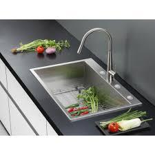 Kitchen Sink 33x22 by Ruvati Rvh8001 Tirana Stainless Steel Drop In Single Bowl Kitchen