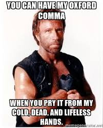 Oxford Comma Meme - meme of the week 5 the oxford comma the write attitude