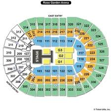moda center at the rose quarter seating charts