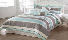 Striped Comforter Blue And White Striped Comforter
