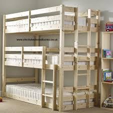 3 Person Bunk Bed Pandora 3 Tier Sleeper Pine Bunk Bed New House