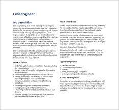 10 civil engineer job description templates u2013 free sample