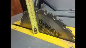 table saw with dado capacity dewalt dw 745 alternativa dado blade youtube