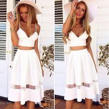 2015 newest two piece spaghetti crop top midi skirt set casual