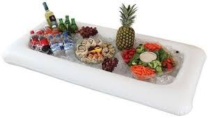 inflatable buffet cooler serving bar for picnics and bbqs