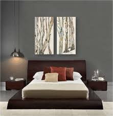 Zen Furniture Contemporary Bedroom Design Gray Walls Artwork Zen Style
