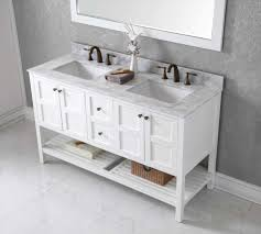 bathrooms design white wood bathroom vanity double faucet sink