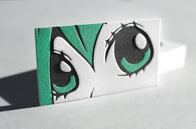 cool business card anime manga style business card paperspecs