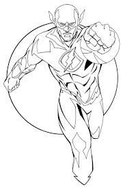 flash coloring pages superhero coloringstar