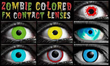zombie contact lenses eerie chilling white blue red contacts