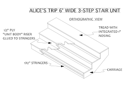 2 Step Stair Stringer by Construction Of Stairs For The Stage 2 Designandtechtheatre