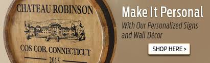 signs and decor personalized wine décor personalized wine barrel décor more