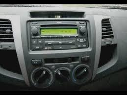 toyota hilux radio head unit removal remove radio ausbauen
