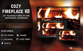 amazon com cozy fireplace hd decor your tv room with