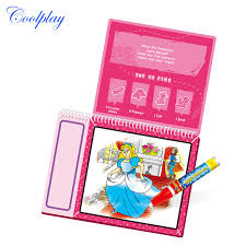 coolplay drawing toys fairy princess coloring books kids baby