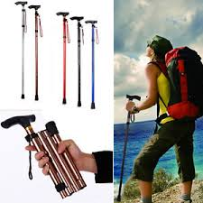 Walking Stick Chair Lightweight Disability Medical Aid Folding Seat Cane Walking Stick