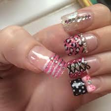 cute acrylic nails bows cheetah print printable coloring