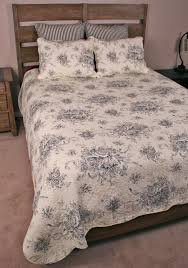 Country Duvet Covers Quilts Set French Country Black Floral Toile Cottage Chic