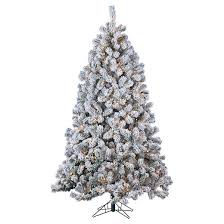 7ft pre lit artificial tree flocked montana pine