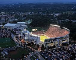 Virginia Tech Parking Map by Lane Stadium Worsham Field Virginia Tech