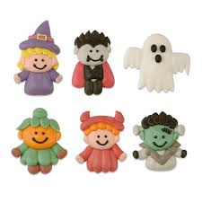 Halloween Cake Topper by Halloween Cupcake Toppers Fondant Pumpkin Ghost U0026 Witches Hat