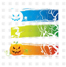 Halloween Banners by Halloween Banners With Brushstroke Background Jack O U0027lantern And