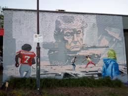 home trumptank mural in footscray australia features colin kaepernick american footballer and ant racism activist and local footscray resident ricardo