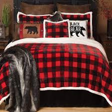 Plaid Bed Set Buffalo Plaid Plush Bed Set King
