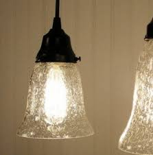 Glass Replacement Shades For Pendant Lights Seeded Glass Chandelier Shade Foter