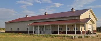 Farmhouse Ranch Denver Colorado Horse Barns Steel Buildings Metal Buildings