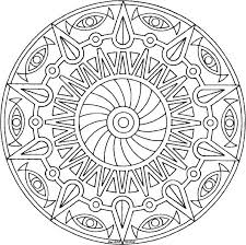 free abstract coloring pages a sun moon and stars mandala coloring