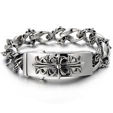 steel bracelet images Fleur de lis stainless steel bracelet edgy jewelry jpg