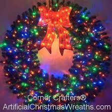 large outdoor lighted wreaths plan placement of ornaments