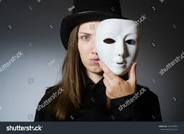 halloween woman mask woman mask funny concept stock photo 333734681 shutterstock