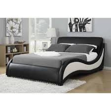 Upholstered Queen Bed Frame by Niguel Modern Upholstered Queen Bed