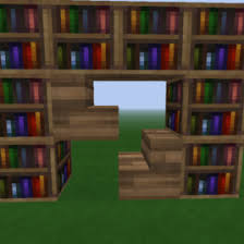 Minecraft Enchanting Table Bookshelves Minecraft How To Make A Bookshelf Step By Step Tutorial Youtube