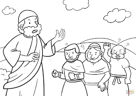 israelites complaining to moses coloring page free printable