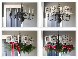 the yellow cape cod how to decorate your chandelier for christmas