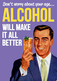 alcohol will make it all better funny birthday card happy