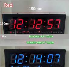 9 design home decor ht4819sm 9 free shipping aluminum large digital clock big led