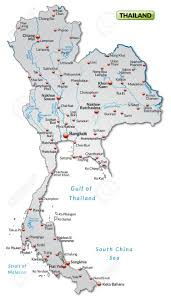Map Of Thailand Map Of Thailand As An Overview Map In Gray Royalty Free Cliparts