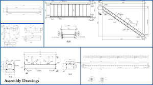 this is an image of an assembly drawing view more drafting