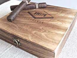 personalized boxes personalized cigar boxes unique groomsmen gifts swankybadger