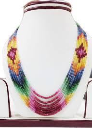 multi stone necklace images Designer multi gemstone faceted beads necklace gleam jewels jpg