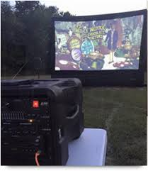 Backyard Movie Night Rental It U0027s Time For A Backyard Movie Night Party Home Theatre Connection