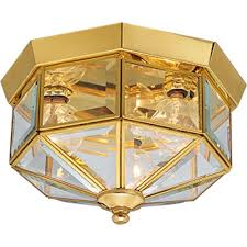 Flush Ceiling Light Fixtures Hampton Bay Estelle 3 Light Champagne Flushmount Hd13811fmchpc