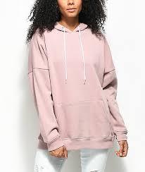 zine reyes mauve boyfriend fit hoodie zumiez
