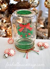 make a dollar tree mason jar christmas snow globe mason jar